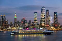 Disney Ship and NYC (RyanKirschnerImages) Tags: nyc ny newyork cruiseship disney longexposure cityscape empirestatebuilding