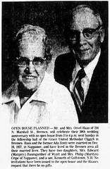 1977 - Orvel & Ada [Zentz] Haas 50th - South Bend Tribune - 4 Dec 1977