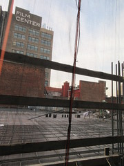 Sixth Floor Rising 350 and 352 Building Next Door 9566 (Brechtbug) Tags: sixth floor rising 350 352 building next door 2019 midtown manhattan 45th street near times square nyc 11112019 new york city cube architecture traffic transit car cars auto lots steel beams beam red brick wall green shed park brownstone 1920s apts apartment house apartments construction fence november working 6th