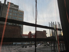 Sixth Floor Rising 350 and 352 Building Next Door 9564 (Brechtbug) Tags: sixth floor rising 350 352 building next door 2019 midtown manhattan 45th street near times square nyc 11112019 new york city cube architecture traffic transit car cars auto lots steel beams beam red brick wall green shed park brownstone 1920s apts apartment house apartments construction fence november working 6th