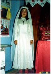 Gülizar trying on a wedding gown, Polyanovo (ali eminov) Tags: polyanovo bulgaria dresses gowns weddinggowns women gülizar