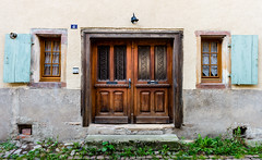 The Front Door (George Plakides) Tags: eguisheim france rustic traditional doorwindow
