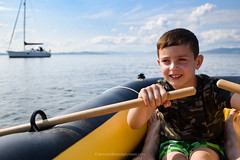 Learning to Row (Steven Robinson Pictures) Tags: river riverclyde row rowing learning boy cute sea summer nikond810 35mmf2afd shallowdepthoffield boat sailing exercise outdoors browneyes portrait environmentalportrait