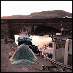 Ponte Vecchio_Tele Rolleiflex (ksadjina) Tags: bosa italia lasardegna morningmood carlzeisssonnar135mmf4 kodakportra160 c41 film scan analog silverfast nikonsupercoolscan9000ed