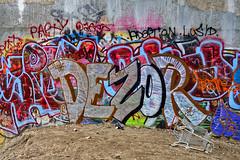 Graffiti & Biohazard (Solojoe ️) Tags: graffit graff graffito artwork highlevelbridge crime urbandecay spraypaint art tag tagged garbage trash dezor