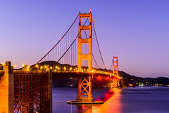 San Francisco (drasphotography) Tags: san francisco golden gate california bridge drasphotography architecture travelphotography travel pacific nikon d810 nikkor2470mmf28 long exposure reflection reflektion brücke dusk