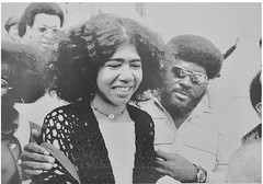 Tears of joy as Ericka Huggins tastes freedom: 1971 (Washington Area Spark) Tags: ericka huggins black panther party trial new haven ct murder kidnap conspiracy prison jail free jury deadlock charges dropped 1971