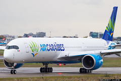 Air Caraibes Airbus A350-1041 cn 065 F-WXLV // F-HMIL (Clément Alloing - CAphotography) Tags: air caraibes airbus a3501041 cn 065 fwxlv fhmil toulouse airport aeroport airplane aircraft flight test canon 100400 spotting tls lfbo aeropuerto blagnac airways aeroplane engine sky ground take off landing 1d mark iv avgeek avgeeks planespotter spotter news aviation daily insta avnerd planeporn megaplane avitionnews dailynews