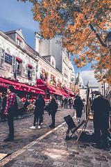 Place du Tertre - Montmartre (Ro Cafe) Tags: paris montmartre place square painters city cityscape urban travel autumn nikkor1424mmf28 sonya7iii