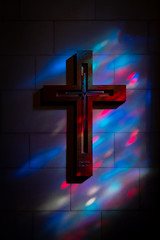 Colorful Cross (edwarddwood) Tags: nationalcathedral church washington dc christianity stainedglass window color light shadow architecture building sony a7r3