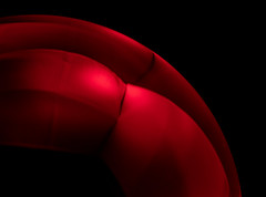 Red_Curves (Lo8i) Tags: 52weeks2019 abstract crystal crystalball curves flickrlounge lensball minimalism red