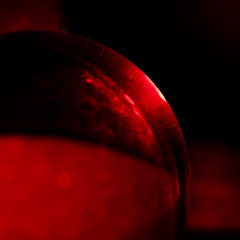Red_Curves2 (Lo8i) Tags: 52weeks2019 abstract crystal crystalball curves flickrlounge lensball minimalism red