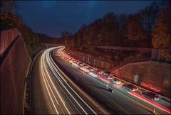 rush hour (norbert.karow) Tags: motive verkehr fahrzeuge autobahn blauestunde langzeitbelichtung