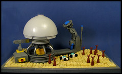 A Remote Medusan Spaceport (Karf Oohlu) Tags: lego moc vignette microscale microspacetopia scifi spaceport spaceship spacejellies
