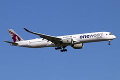 A7-ANE (JBoulin94) Tags: a7ane qatar airways airbus a3501000 oneworld special livery washington dulles international airport iad kiad usa virginia va john boulin