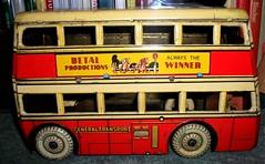 1937 Betal Toys London transport Q2 bus in tin plate. (Ledlon89) Tags: bus buses transport london betal tinplate britishtoys oldtoys londonbus londonbuses londontransport antiquetoys aec qtypebus q aecbus lptb lt lte