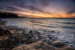 One Fine Day (ianrwmccracken) Tags: horizon rock d750 sunrise nikkor1635mmf4 dawn sea morning pathhead tide fife cloud ravenscraig wave riverforth kirkcaldy nikon coast shore sky