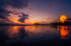 I heard you paint houses (S|M) Tags: los angeles la santa monica beach pier ferris wheel pacific amusement park dusk night nikon d7000 sunset blue hour golden tokina wide angle