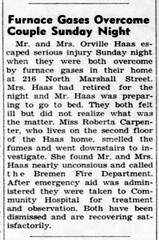 1964 - Orvel & Ada [Zentz] Haas and wife near fatality - Enquirer - 26 Nov 1964