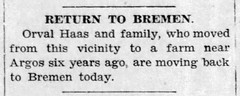 1937 - Orval Haas family moves to 216 N Marshall - Enquirer - 4 Feb 1937