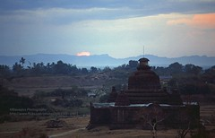 Mrauk U, Le-myet-hna temple, sunset (blauepics) Tags: myanmar birma burma southeast asia südostasien 1996 myauk mrauk u mrauku rakhine arakan state province provinz burmese birmanen arakanese buddhism buddhismus king könig religion stupa bell glocke hill hügel clouds wolken history geschichte landscape landschaft rural ländlich lemyethna laymyethna saw mon sunset sonnenuntergang sun sonne