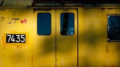 numerology (jtr27) Tags: dscf4139xl jtr27 railroad railway passenger trolley subway car junkyard 7435