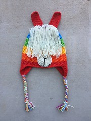 IMG_2379 (crochetbug13) Tags: crochet crocheted crocheting crochethat crochetbeanie crochetcap wintercrochetcrochetrainbowhat wearablecrochet crochetvikinghat crochetswatch