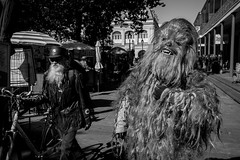 Just a typical weekend in New Orleans (michael.mu) Tags: 35mm frenchquarter leica mm246 monochrom neworleans yellowfilter leicasummicronm1235mmasph chewbacca wookie streetphotography bw blackandwhite