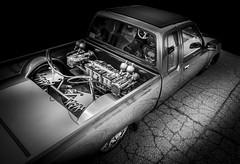 LOW LOW (Dave GRR) Tags: truck pickup retro classic low lowrider monochrome mono chrome ratrod hotrod autoshow black toronto olympus