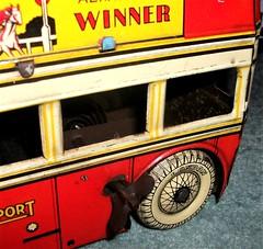 Betal Toys London transport Q type bus fixed key clockwork toy. (Ledlon89) Tags: bus buses transport london betal tinplate britishtoys oldtoys londonbus londonbuses londontransport antiquetoys aec qtypebus q aecbus lptb lt lte