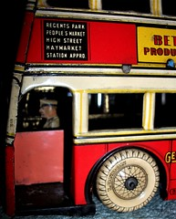 Betal Toys London transport Q type bus front entrance. (Ledlon89) Tags: bus buses transport london betal tinplate britishtoys oldtoys londonbus londonbuses londontransport antiquetoys aec qtypebus q aecbus lptb lt lte