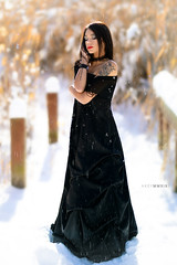Liz (Ray Akey - Photographer) Tags: liz pretty girl teen snow elegant dress brunette female