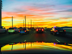 Let's Get Out of This Town (Thomas Hawk) Tags: america baybridge california eastbay oakland usa unitedstates unitedstatesofamerica bridge sunset fav10 fav25 fav50 fav100