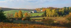 Mulmur flame-out (take two) (virgil martin) Tags: barn farmstead fences landscape panorama fallcolours mulmurtownship dufferincounty ontario canada