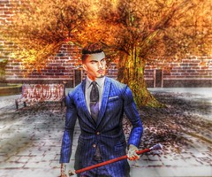 """ Fashion is what you Buy, Style is what you do with it "" (maka_kagesl) Tags: secondlife sl game virtual videogame photography portrait photo picture pose pic posing gentleman gentlemen dapper suit formal avatar avi screenshot"
