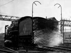 EngineWasherinOperationJerseyCityYards (barrigerlibrary) Tags: erie railroad scrapbook john w barriger iii