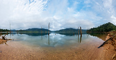 Clear water panorama at lakeside (elmanther123) Tags: sky landscape lakeside park vacation holiday water forest relax amazing rainforest scenery paradise outdoor scenic clear fantasy ocean trees summer tourism nature beauty spring sunny serenity daytime traquil springime