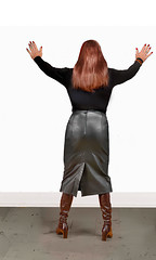 against the wall and spread them (rallie1@yahoo.com) Tags: skirt leather long