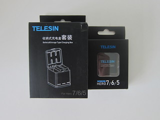Telesin 3-Channel Charging Box With Batteries For GoPro Hero 7