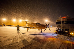 Fuel (Devon OpdenDries) Tags: aviation aircraft winter snow cold north canada flying ornge medevac medical pilatus pc12 turboprop