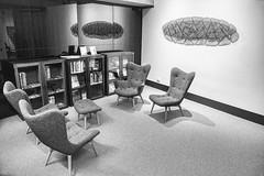 Po-Mo Retro (John Hewitt 7) Tags: bw retro library art mona monochrome luminosity7 nikon d850 furniture hobart tasmania gallery