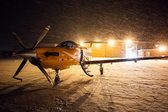Snowy Arrival (Devon OpdenDries) Tags: aviation aircraft winter snow cold north canada flying ornge medevac medical pilatus pc12 turboprop