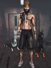 ☠ TROOP (Shock Q'Kell) Tags: secondlife sl bloggers slbloggers lelutka head guy mesh bento signature gianni body bolson bolsontattoo tattoo sltattoo grailed shoes snackers backdrop thebeardedguy 6threpublic event swallow mancave realevil rezzroom pitbull doberman volkstone beard tmd beanie richb photo slphoto moda slmoda style fashion store mainstore male versov
