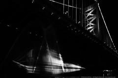 Ghost Ship Sets Sail in Philly (mhoffman1) Tags: benfranklinbridge bianglestudio delawareriver pennslanding philadelphia philly racestreetpier art blackandwhite ghostship monochrome publicart ship pennsylvania unitedstatesofamerica