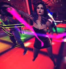Shake Ya Groove Thing (ladyinneon.resident) Tags: secondlife theeventstage disco dance dancing dj hale hussle theme nightlife club 70s decade throwback