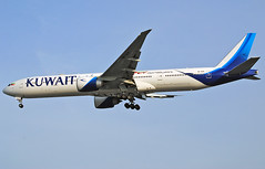 9K-AOH Kuwait Airways Boeing 777-300 (Infinity & Beyond Photography: Kev Cook) Tags: kuwait airways boeing 777300 airlines 777 b777 aircraft airplane airliner heathrow airport london lhr egll planespotting photos planes 9kaoh