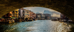 Looking back in sadness (Peter Leigh50) Tags: venice canal city boat water building fujifilm fuji xt2 people bridge