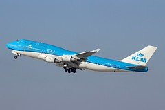 KLM (So Cal Metro) Tags: klm 747 744 747400 phbfw 100th anniversary boeing airline airliner airplane aircraft aviation airport plane jet lax losangeles la