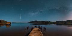 Hoopers Inlet Milky Way (paulphotographe) Tags: dunedin new zealand aotearoa nikon sky stars milkyway night cosmos ocean water sea