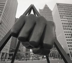 Explore Detroit (IV2K) Tags: kodak trix kodaktrix film analogue filmphotography mamiya mamiya7 mamiya7ii mediumformat blackandwhite bw detroit detroitmichigan motorcity motorcityshooters joelouis statue d76 exploredetroit
